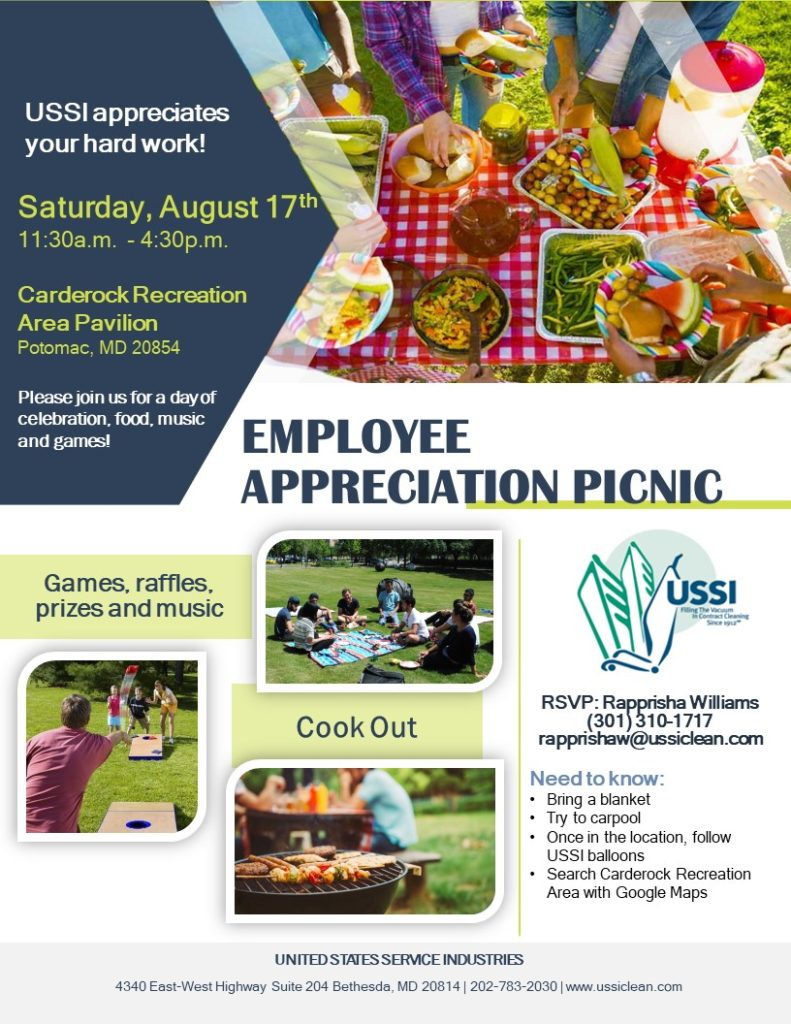 2019 Picnic – Janitorial Services USSI
